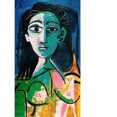 Pablo Picasso, Portrait of Jacqueline, 1963. Oil on canvas, 92 x 60 cm, Rosengart Gallery. on ArtStack #pablo-picasso #art