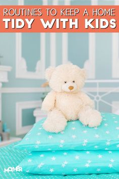 Here are some household routines to help keep your home tidy with kids. If you have toddlers and preschoolers, you'll want to read this.