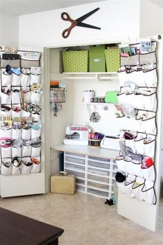 "Craft ""Closet""--great for small spaces. NEED!!!!"