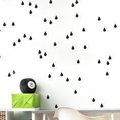 Harriet Bee Gretchen It's Raining, It's Pouring! Kids Wall Decals, Wall Sticker, Sticker Ideas, Mouille, Wooden Crosses, Stick Art, Bird Tree, Modern Wall Decor, Letter Wall
