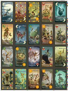 Goblins Drool, Fairies Rule! - uncut goblin card sheet