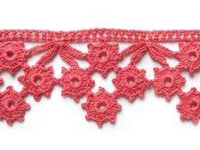 Tejido de crochet de flores entre unidas , queda como tipo encaje, muy bonitas