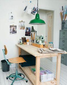 7 conseils pour aménager un espace de travail à la maison bureau atelier clair et lumineux - chaise d'atelier