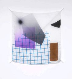 Eva Berendes — Untitled, 2010 / silk, silk paint, steel, lacquer / 121 x 121 cm