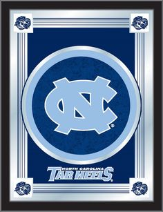 The North Carolina Tar Heels Logo Mirror for NC Fan caves and dorm rooms