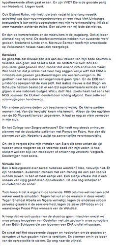 Column nr 19 in Volkskrant Opinie part 2