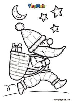 Pere Noël play mais Diy For Kids, Crafts For Kids, Arts And Crafts, Smurfs, Markers, Creations, Dots, Printables, Animation