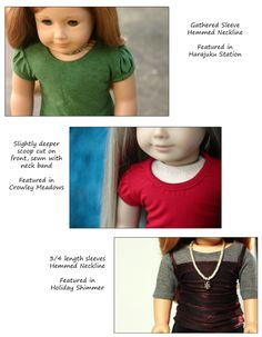 """T-Shirt Variations 18"""" Doll Clothes"""