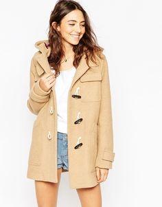 Faux Fur Hooded Duffle Coat   Coats Shops and Topshop