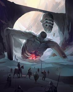"poolsofchrome: ""A sudden silence fell over the Duke's party "" Fantasy Kunst, Dark Fantasy Art, Fantasy Artwork, Fantasy World, Dark Art, High Fantasy, Dark Creatures, Fantasy Creatures, Mythical Creatures"