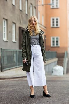 white long skirt, jacket @roressclothes closet ideas #women fashion outfit #clothing style apparel