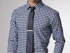 Nice || I'm starting to get more attached to gingham shirts with simple ties