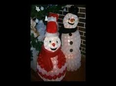 Resultado de imagen para muñeco de nieve con vasos plasticos paso a paso