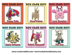 Toy Club 2017 - it's where all the cool toy-sewists hang out!!!! | Funky Friends Factory