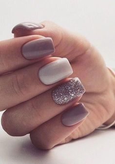 30 Inspiring Winter Nails Color Trend 2019 2019 30 Inspiring Winter… – Amy - un. Stylish Nails, Trendy Nails, Cute Nails, Hair And Nails, My Nails, Crazy Nails, Pointy Nails, Winter Nails Colors 2019, Winter Colors