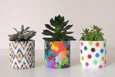 18 Perler Bead DIYs to Reinvent Your 90s Craft Days via Brit + Co