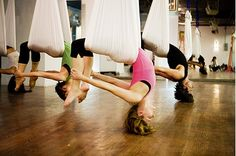 This looks like it would be a great stretch... Bow Pose upside down!