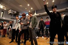 The FNC Entertainment family rehearse for their joint concert in Japan this weekend Kang Min Hyuk, Lee Jong Hyun, Lee Jung, Jung Yong Hwa, Cn Blue, Ft Island, Fnc Entertainment, Korean Music, Kpop
