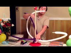 Cómo hacer trensado con globos 160-260....en Shinin Decoración - YouTube