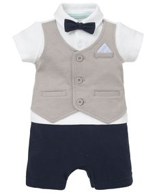 I'm shopping Shirt and Bow Tie Romper in the Mothercare iPhone app.