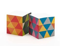 Triangles Sticky Note Cube by ilee