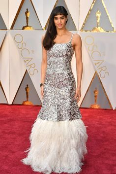 Sofia Boutella in Chanel Haute Couture and Chanel Fine Jewelry at the Oscars 2017