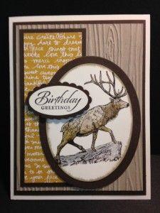 Rubber Stamping Handmade Birthday Card (2)