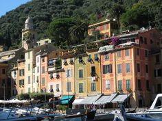 Portofino....- best time everythere sitting on the way with glass of wine!