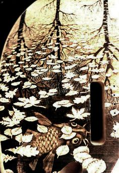 Custom Fender Guitar Pyrography by Dino Muradian
