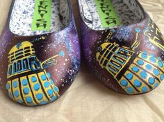 I also want these, too bad they aren't my size either :( Doctor Who Shoes. £45.00, via Etsy.