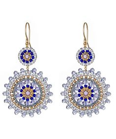 Miguel Ases Medallion Drop Earrings