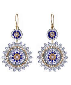 Miguel Ases Medallion Drop Earrings ᘡղbᘠ