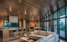 Workshop AD have designed the Golden View Residence in Anchorage, Alaska.This project involved the redesign and completion of a partially constructed house on the Upper Hillside in Anchorage.