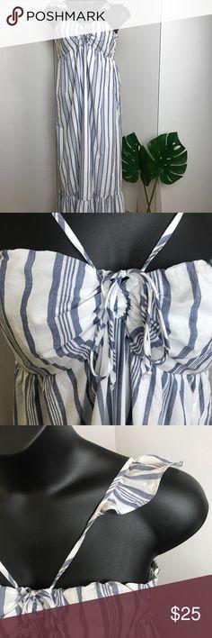 Target Striped Cotton Maxi Dress Blue and white pin striped maxi dress, Brand new condition Target Dresses Maxi
