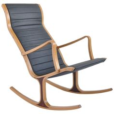 """Bent Oak """"Heron"""" Rocking Chair by Mitsumasa Sugasawa for Tendo Mokko 