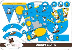 Snoopy Free Printable Kit. - Is it for PARTIES? Is it FREE? Is it CUTE? Has QUALITY? It´s HERE! Oh My Fiesta!