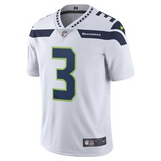 Nike NFL Seattle Seahawks Limited (Russell Wilson) Men's Football Jersey Size Medium (White)