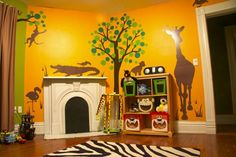 We'd love a tasteful jungle theme for the nursery. I really like the clean animal silhouettes.