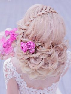 Long wedding hairstyles and wedding updos from Websalon Weddings 57