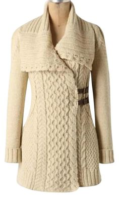 """Anthropologie Angel Of The North """"blanched & Buckled"""" Cardigan. Free shipping and guaranteed authenticity on Anthropologie Angel Of The North """"blanched & Buckled"""" CardiganPre-loved. Color is oatmeal. Sweatercoat with pock..."""