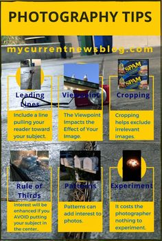 #Photography #Infographic Click to get 7 photography tips.  From mycurrentnewsblog.com