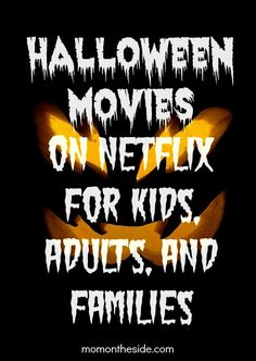 Halloween Movies on Netflix for Kids, Adults, and Families. Halloween Episodes of TV Shows on Netflix. Cover your Halloween Entertainment here. Family Halloween, Spooky Halloween, Holidays Halloween, Halloween Crafts, Happy Halloween, Halloween Party, Halloween Decorations, Halloween Costumes, Halloween Movies List