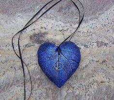 Blue Love Leaf by Medusa13 on Etsy