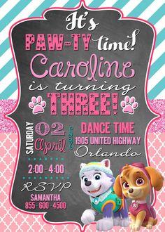 Genial tarjeta para fiesta de la Patrulla Canina. #invitaciones #PatrullaCanina