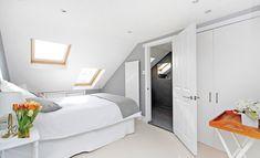 Attic Layout Tiny Homes and Attic Remodel Loft. Small Loft Bedroom, Attic Bedroom Designs, Attic Design, Loft Room, Trendy Bedroom, Interior Design, Loft Bedrooms, Upstairs Bedroom, Loft Design
