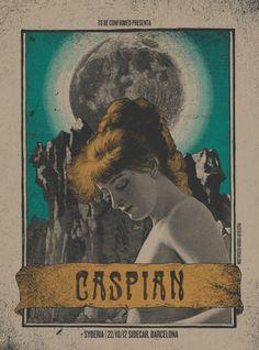 Caspian & Syberia Barcelona gig poster by Error! Design <3