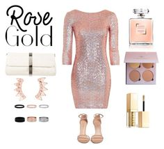 """Rose gold"" by elliecater on Polyvore featuring Topshop, Stuart Weitzman, Chanel and Stila"