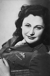 """Nancy Wake, nicknamed """"The White Mouse"""", served as a British agent during the later part of World War II. One of the Allies' most decorated servicewomen of the war. I love this quote of hers about the inaccuracies of the tv move about her """"""""For goodness sake, did the allies parachute me into France to fry eggs and bacon for the men?"""" she asked. """"There wasn't an egg to be had for love nor money, and even if there had been, why would I be frying it when I had men to do that sort of thing?"""""""""""
