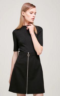 Vero Moda Round Neckline Elbow Sleeves A-line Knitted Dress - HD VOGUE Knit Dress, High Neck Dress, Vogue, Neckline, Woman, Knitting, Sleeves, Dresses, Fashion