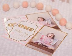 """Pink and Gold / Birthday """"Oaklyn's First Birthday Party"""" 